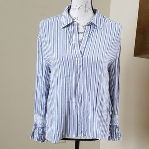 Ladies dress shirt with lace detail- Size 2